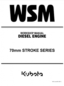 Kubota VH1100-B 70mm Stroke Diesel Engine Service Manual Download