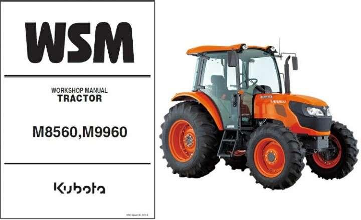 Kubota M8560 M9960 Service Manual Wsm Download Manual Guide